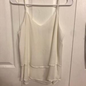 Francesca's Layered white top
